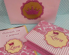 Kit Colorir Princesa com Maletinha