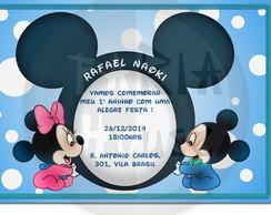 Convite Anivers�rio Baby Disney - Arte
