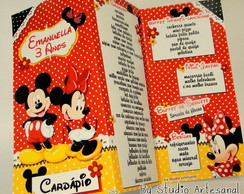Card�pio Personalizado - Mickey e Minnie