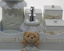 Kit Higiene Urso Pelucia Frasco Gel