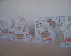Baby-letras decorativas 3d