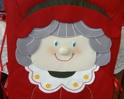 Capa para cadeira Natal - Mam�e Noel