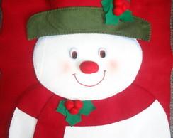 Capa para cadeira Natal - Boneco de Neve