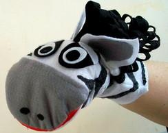 Fantoche Zebra com boca articul�vel