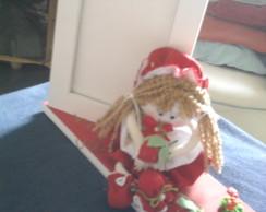 porta retrato boneca moranguinho em mdf