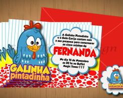 CONVITE - TEMA GALINHA PINTADINHA