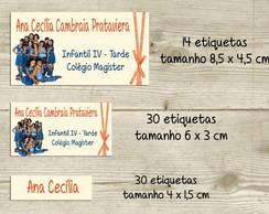 Kit adesivo material escolar Chiquititas