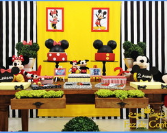 Decora��o Mickey e Minnie R�stica