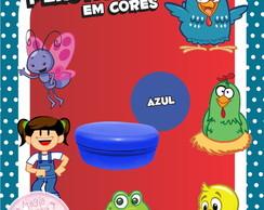 Potinho Pl�st Cores - Galinha Pintadinha