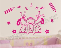 Adesivo Infantil quarto Meninas -23