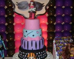 Bolo cenogr�fico Monster High
