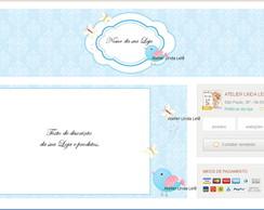 Layout Loja Elo7- Kit elo7 Blue-Birds