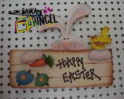 Placa Happy Easter