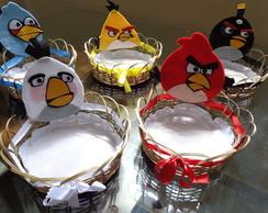 Cestinha de doces e salgados Angry Birds