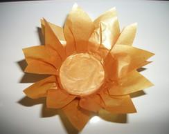 Forminha de doces finos flor dourada
