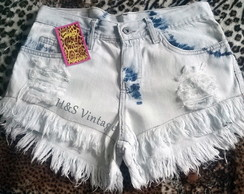 Short Customizado Branco Destroyed