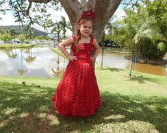 Vestido de Festa Infantil com tiara