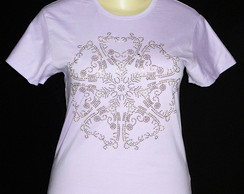 Camiseta - Baby Look - Plus Size Mandala