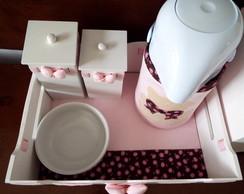 Kit Higiene Floral & Po� Ursa - 5p�s