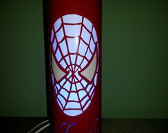 Lumin�ria Artesanal Homem Aranha