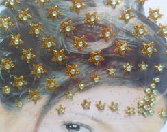 Bindi Estrela Verde fundo dourado