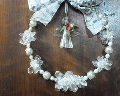 Guirlanda De Natal Lua Branca Prata