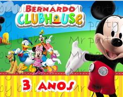 R�tulo Bolinha de Sab�o Casa Mickey