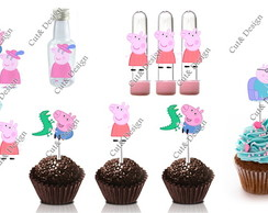 Aplique decorativo peppa pig 50pe�as