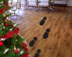 Adesivos - Pegadas do Papai Noel
