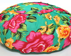 Puff Redondo Floral