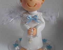 Topo de bolo anjo batizado