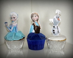 Cupcake frozen tag 3d
