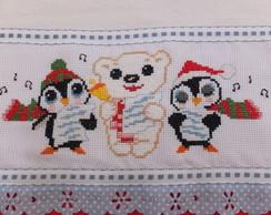 Pano de Copa - Natal (pinguim)