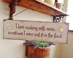 Placa Love Cooking