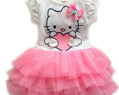 Vestido Hello Kitty Rosa com Tutu