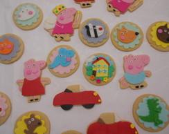 Biscoito Peppa Pig e amiguinhos