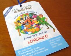 Convite de Anivers�rio Infantil Disney