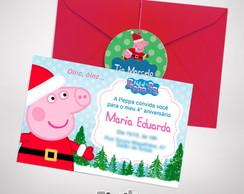 Convite Natal Peppa Pig