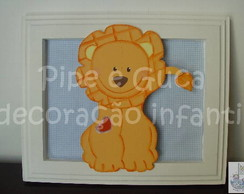 (DO 0006) Quadro decorativo le�ozinho