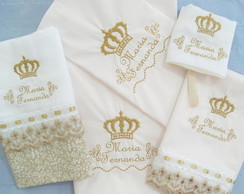 kit bordado personalizado tema princesa