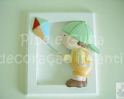 (DO 0016) Quadro decorativo menino pipa