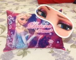 Kit Almofada e Mascara de dormir Frozen