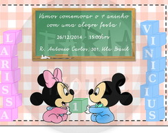 Convite arte digital - Baby Disney 5