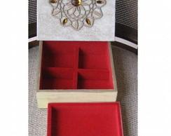 Caixa flocada para j�ia com mandala