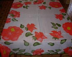 Toalha de Mesa em voil Rosas Vermelhas