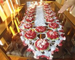 Caminho de Mesa com Flores caracol
