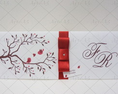 Convite de Casamento Longo Passarinhos