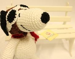 Snoopy aviador - amigurumis