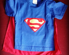 Roupa de Brincar - Camiseta do Superman