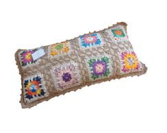 Almofada de quadrados de croch�